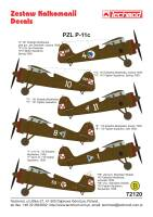 72120  PZL P.11c decals