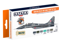 HTK-CS17 Modern Polish Air Force paint set vol. 1 , 6 x 17ml ORANGE LINE