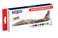 HTK-AS29 USAF Aggressor Squadron paint set vol. 1 (6 x 17ml)