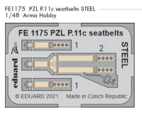 EDUFE1175 1/48 PZL P.11c seatbelts STEEL (Arma Hobby)!