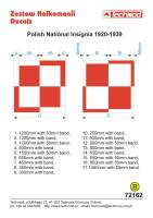 72162 Polish National Insignia 1920-1939 decals