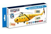 HTK-BS98  British SAR Service paint set of 8 x 17 ml vol. 1 – BLUE LINE