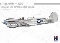 H2K48001 P-40N Warhawk Aces of the 49th Fighter Group ex-Hasegawa!