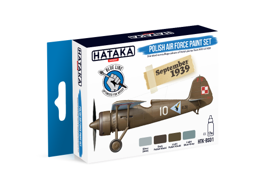 HTK-BS01 Polish Air Force paint set 4 x 17ml - BLUE LINE